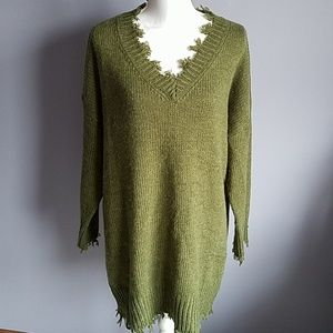 Fantastic Fawn Frayed Oversized Sweater
